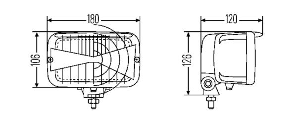 hella 7145 series external fitting auxiliary h4 ece headlamp  w   city light  hl95138