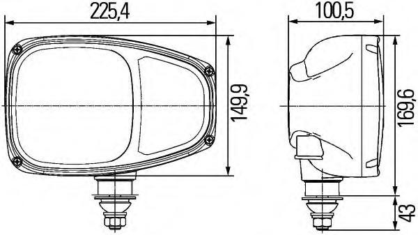 hella model c220 external headlamp with turn signal  ece