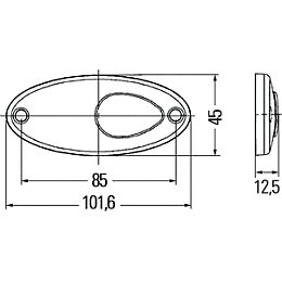 Hella 4295l Series Oval Led Side Marker Tail Lamp 12v