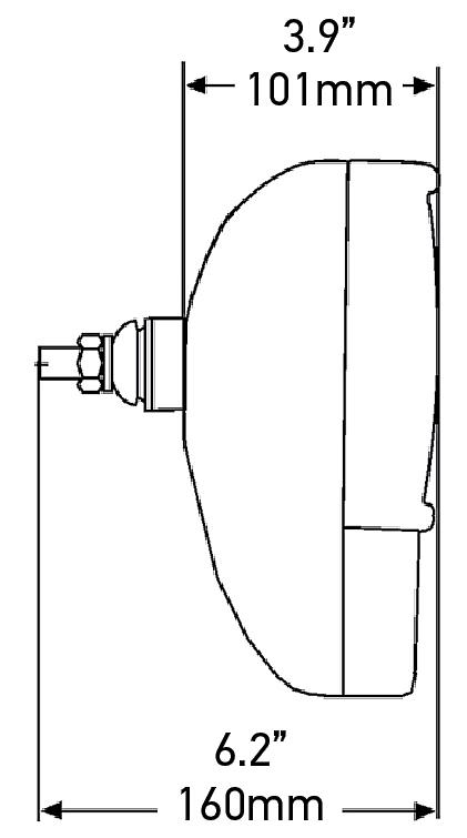 hella module 120c h7  h3 external high  low beam combination
