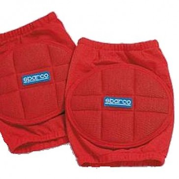 SP00156 Sparco Knee Pads, Pair, NOMEX - Red