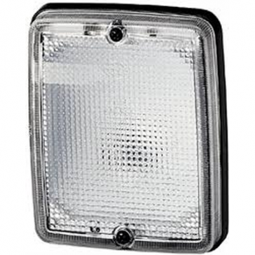 Hella 5200 Series Double Reflector Flood Lamp, Flush Mount. Includes two S8 21W 12V Bulbs.