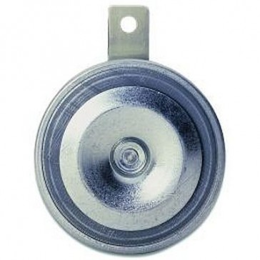 Hella M26 Disc Horn - 97mm Dia. Galvanized metal body with black diaphram, 12V,115db at 2m