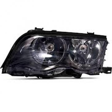 Hella BMW Headlamp 3-Series E46 99-01, Black Bezel, HL40305/6