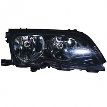 Hella BMW Headlamp 3-Series E46 2002-05, Black Bezel, HL05905/6