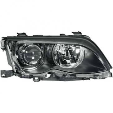 Hella BI-XENON Headlamp BMW 3-Series E46 02-05, Black Bezel, HL05201/2