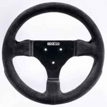 SP015P285SN Sparco Steering Wheel, Competition, 285mm Diameter, Zero Dish, in Black Suede.