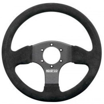 SP015P300SN Steering Wheel, Competition, 300mm Diameter, 30mm Dish in Black Suede.