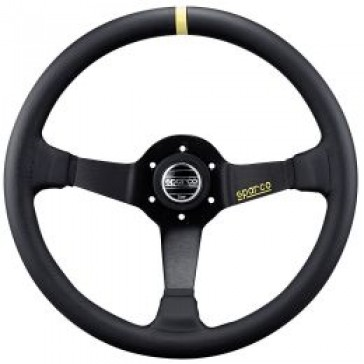SP015R325 Steering Wheel, Competition, 350mm Diameter, 95mm Dish in Black Suede or Leather.