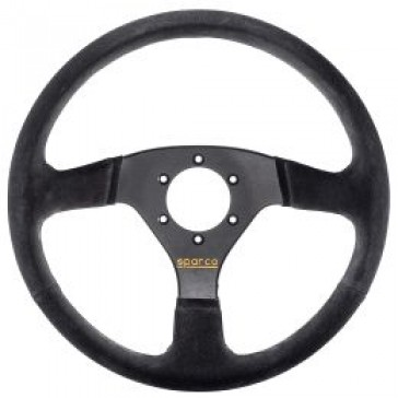 SP015R333PSNO Steering Wheel, Competition, 330mm Diameter, 39mm Dish in Black Suede.