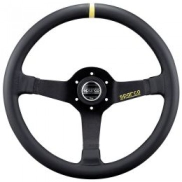 SP015R345 Steering Wheel, Competition, 350mm Diameter, 63mm Dish in Black Suede or Leather.
