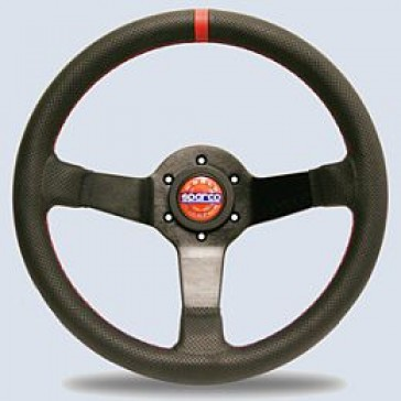 SP015TCHMP Steering Wheel, CHAMPION Limited Edition, Tuning, 330mm Diameter, 65mm Dish in Black Perforated Leather.