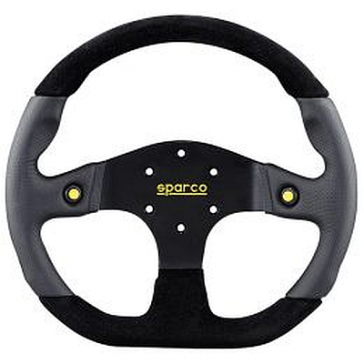 SP015TMG Steering Wheel, MUGELLO, Tuning, 330mm Diameter, 36mm Dish in Black Leather.