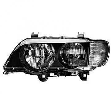 Hella Headlamp BMW X5, White Turn Signal, 2004-06, HL48623/4