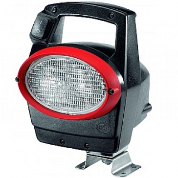 Hella Oval 100 Worklamp, Xenon With Handle & Switch