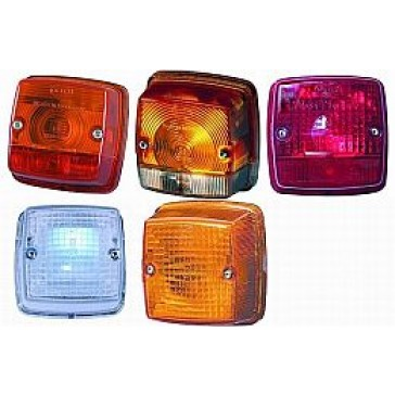 Hella 3014 Series 84mm Square Signal Lamps