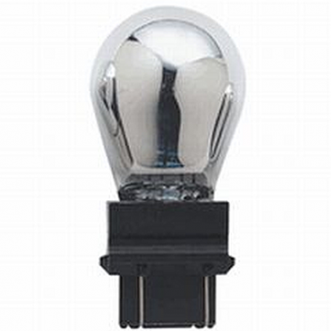 """CP3457MA Incandescant Bulb 3457 Wedge, """"Magic Amber"""" 30% Brighter and Silver when off."""
