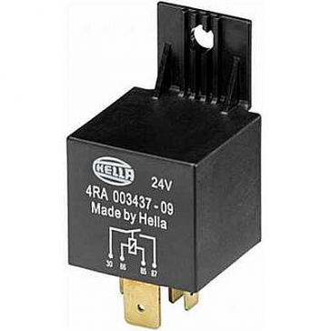 Hella HL43709 Heavy Duty 24V 60A Mini Relay, SPST, with Bracket