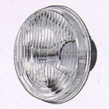 "Hella 5-3/4"" Round H4 E-Code Headlamp with city light, HL66021"