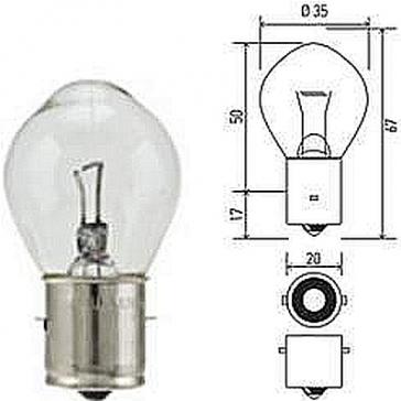 Hella Bulb 660 12V 60W BA20s B11