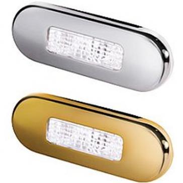 9680 Series Hella Step Lamp, Two LED, Metal Bezel