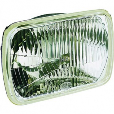 Hella 200mm Rectangular H4 Headlamp, Each, HL79567