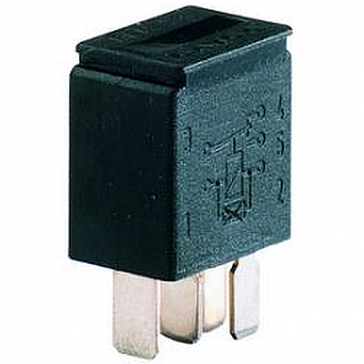 Hella HL31900 Relay, Micro, 12V, 10/20A, SPDT, Resistor, Potted