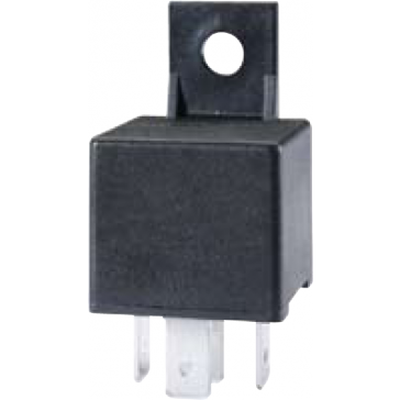 HL87420 Hella 12V 20/40A Mini Relay, SPDT with Resistor and Bracket
