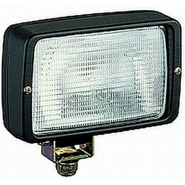 Hella PICADOR Halogen Worklamp, Close Range, 55W H3, Wire Leads