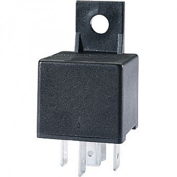 Hella HL87453 Mini Relay, 12V, 30A, SPST, Dual 87 Pin with Diode and Bracket