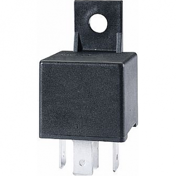 Hella HL87106 Mini Relay, 12V, 30A SPST with Bracket