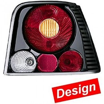 HL98081 Tail Lamp Golf IV, Design Combination with rear Fog Lamps, Black, Set.