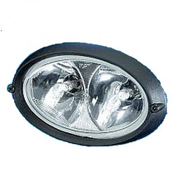 Hella OVAL 100 Worklamp 12V H3, Flush Mount