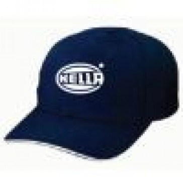 HL55090 Base Ball Cap Silver on Blue with a Sandwiched Visor