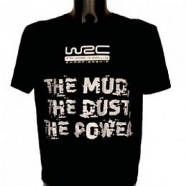 "WCRE11091/123 Official WRC ""THE MUD, THE DUST, THE POWER"" T-Shirt"