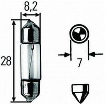 6430 Festoon Bulb, SV7-8, 24V