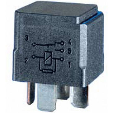 Hella HL87429 Mini Relay, 12V, 10/20A, SPDT with Resistor, High Temperature, Potted