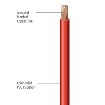 Deka Primary Wire, Stranded 12 Gauge Single Conductor Copper, 80 Deg. C (176 Deg. F)