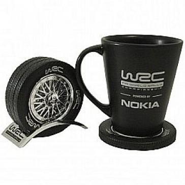 WCRE11112 Official WRC Chrome Drink Coaster Set