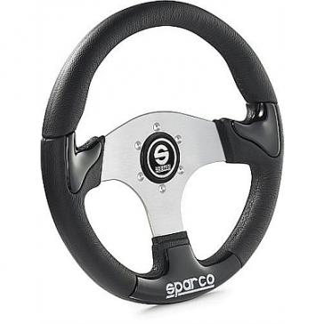SP015THPU P222 Tuning Steering Wheel, 345mm Diameter, Zero Dish in Black or Silver Trim