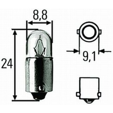 T2.75912 T2-3/4 - Incandescent Bulb, BA9s Base