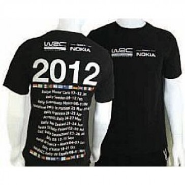 WCRE11093 Official WRC TOUR 2012 T-Shirt
