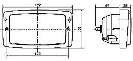 hella module 6213f  148 x 84mm  h4 single high  low beam