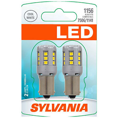 Osram Sylvania LED Premium Miniature Light Bulb White 6000K 1156 BA15s 2W