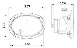 hella oval 120 flush mounted headlamp  sae  dot
