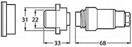 Hella 6801 Series Sea Water Proof Socket Plug