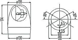 hella kl rotaflex  rotafix rotating beacon