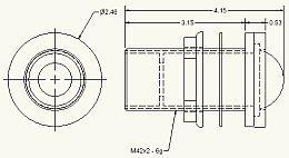 optilux flush mount work lamp  12v 37 5w