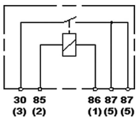 hella hl87483 mini relay, 12v, 40a, spst, dual 87 pin rally lights spdt relay wiring diagram hella hl87483 mini relay, 12v, 40a, spst, dual 87 pin