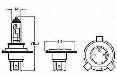 Narva H4 9003 Hb2 6 Volt 60 55 Watts Halogen Bulb